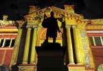 Государственная Библиотека штата Новый Южный Уэльс. Яркий Сиднейский фестиваль (Vivid Sydney Festival) - праздник света, музыки и идей в Сиднее, 27 мая 2010 года.