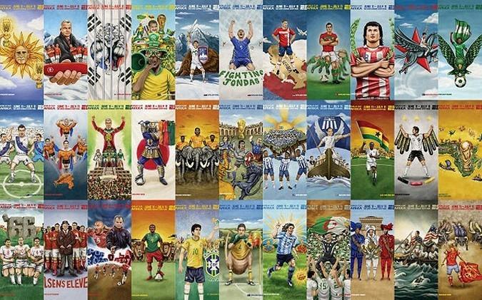 Символам стран-участниц ЧМ в ЮАР придали футбольного колорита