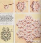 Вязаные крючком цветы, схема / Вязание...