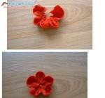 Как сделать поделку букет. цветок из фетра.