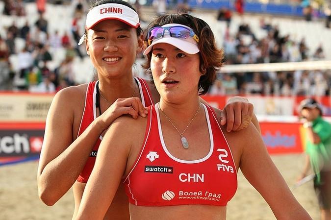 Пятый этап Мирового тура по пляжному волейболу в Москве.
