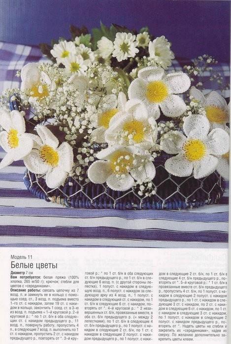 Вязанные цветы.