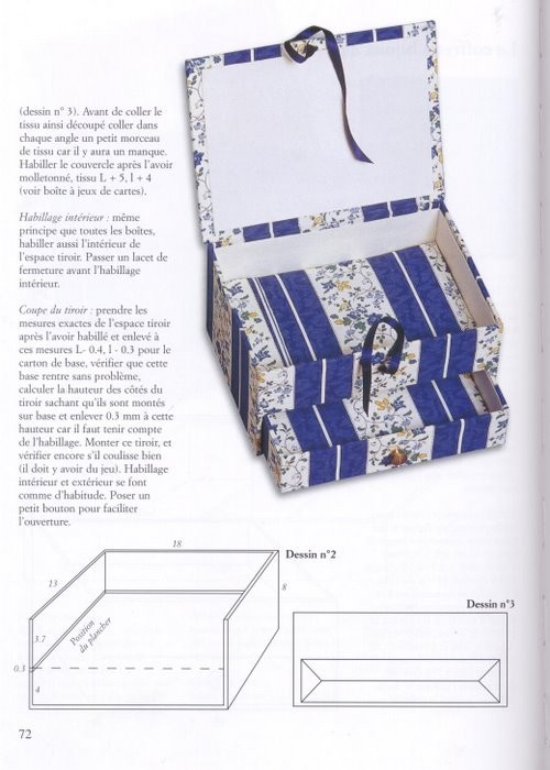 Коробочка для украшений своими руками из картона схема