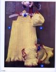 Описание вязания крючком летнего комплекта для девочки: сарафан с кокеткой, болеро, сумочка, шляпка.