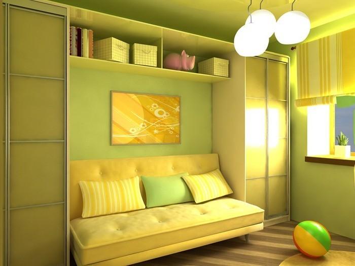 Дизайн детской кровать и диван