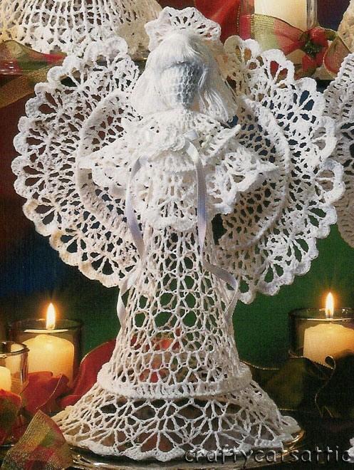 Вязанный крючком ангел схемы.  Ангелочки вязаные.