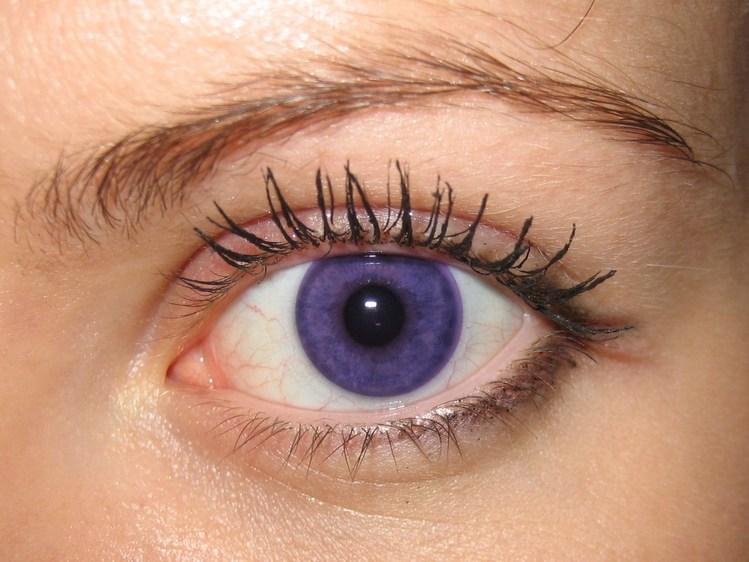 Фиолетовые линзы на зеленые глаза
