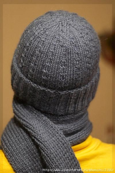 свой цитатник или сообщество!  Связала мужу шарф и шапку.