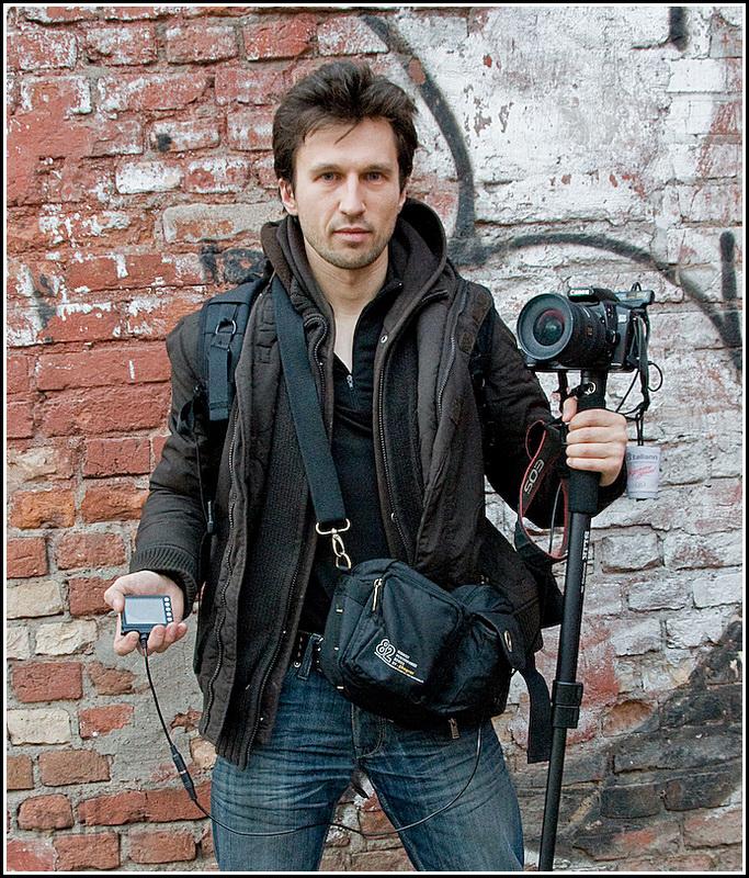 Я с моноподом, камерой и Zigview