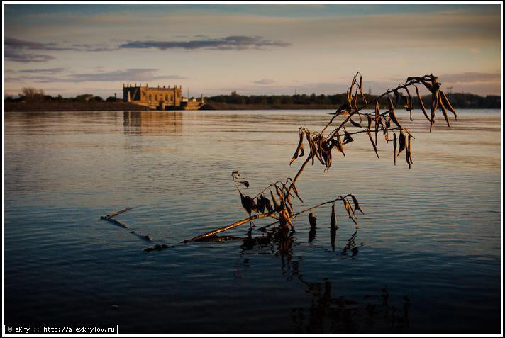 Пироговское водохранилище, закат