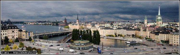 Стокгольм, вид с лифта «Катарина»
