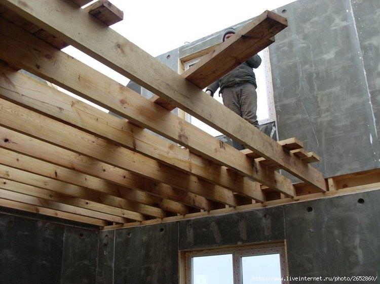 Деревянные перекрытия между этажами как правильно сделать