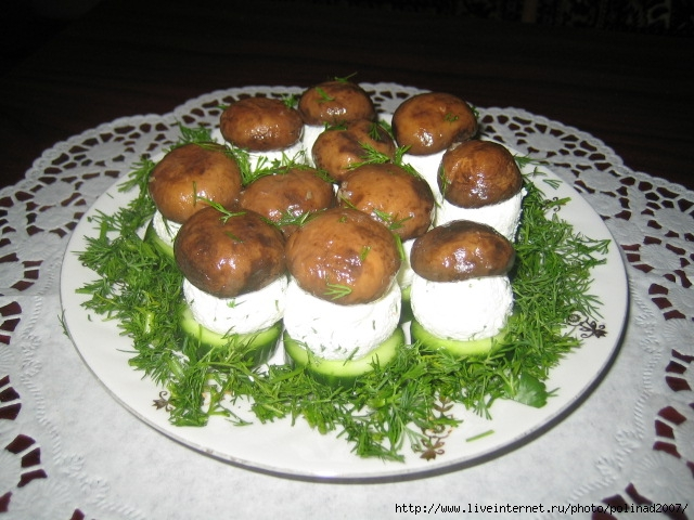 Грибная поляна закуска рецепт