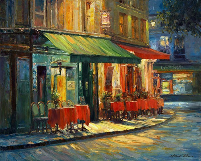 Cafe in Montmartre.
