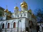 Ныне существующий Благовещенский собор почти полтора столетия служил домовой церковью московских великих князей и царей. Он был частью великокняжеского дворца и соединялся ступенчатым переходом с его парадными и жилыми покоями. Обычное название Благовещен