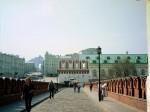 Мост к Кутафьей башне. Вдали виден Калининский проспект. Манеж.