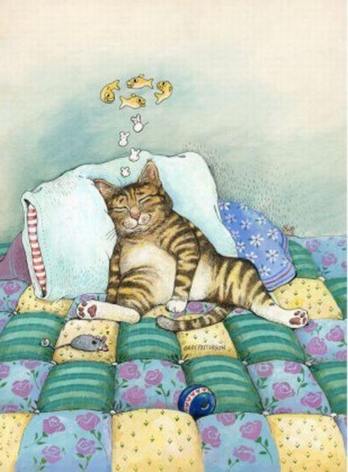 рисованные коты картинки смешные