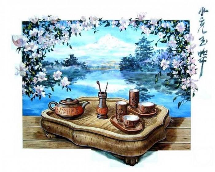 Натюрморт для чайной церемонии