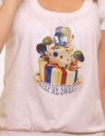 """футболка принт"""" торт с синим"""""""