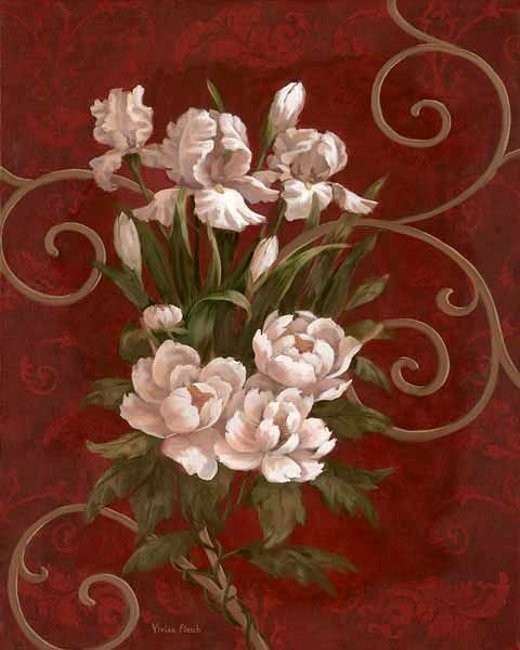 Источник. живопись.  Vivian говорит, что это поистине благословение - делать то, что любишь больше всего! цветы.