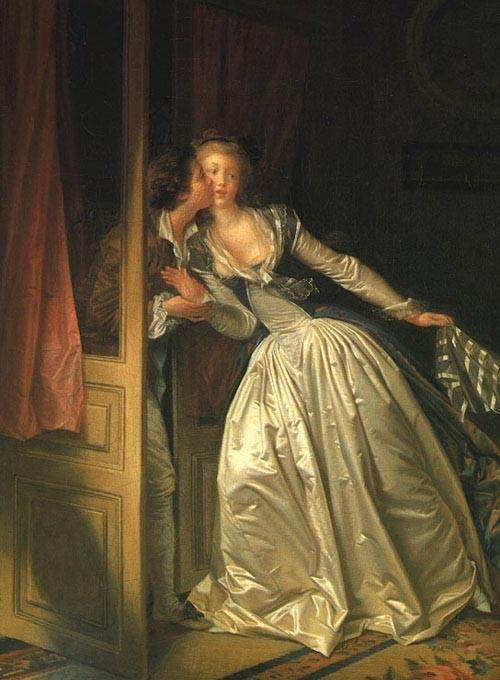 """Поцелуй украдкой"" 1780-е, Эрмитаж, Санкт-Петербург"
