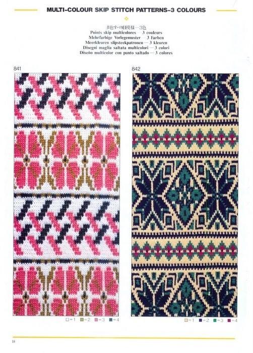 каталог для машинного вязания StitchWorld II. каталог схем жаккардов для машинного вязания.
