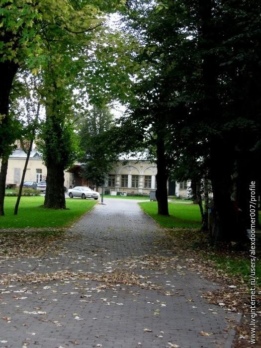 2.Усадебные аллеи под опавшими листьями...