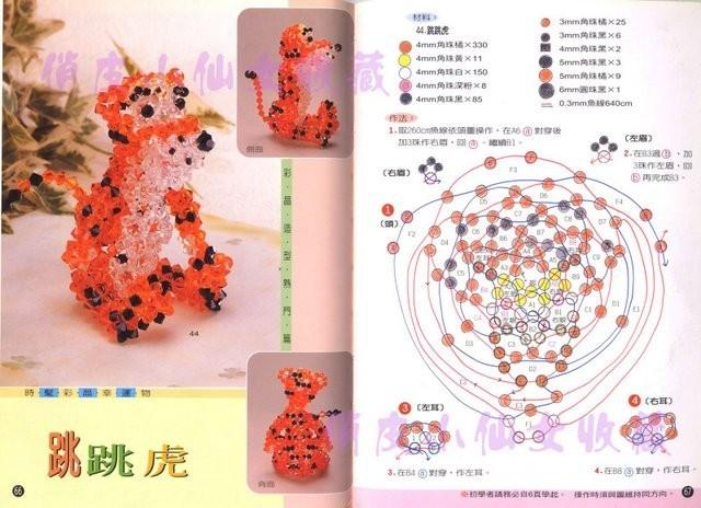 игрушка объёмная Схемы тигр