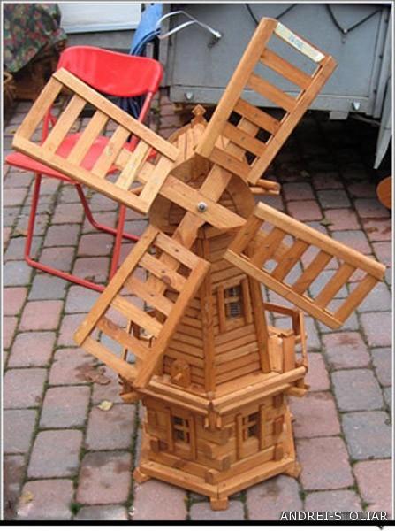Поделка декоративная мельница своими руками