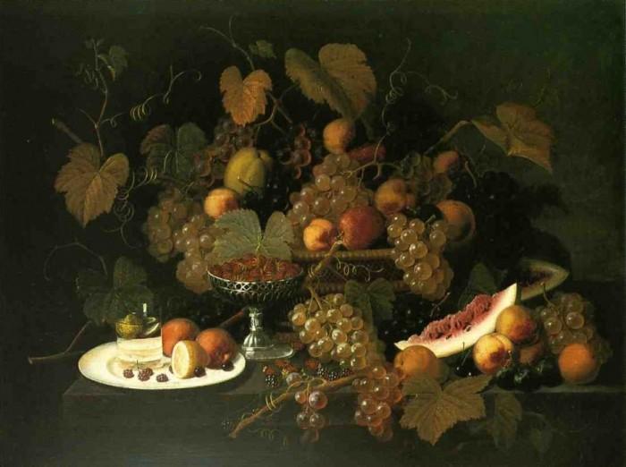 Натюрморт с фруктами. 1852