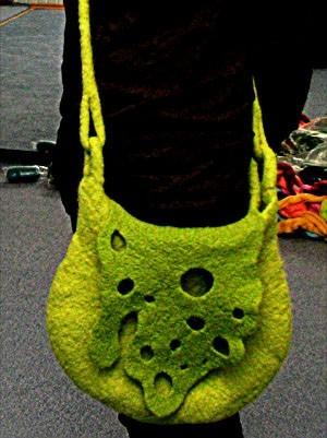 Войлочная сумка Зеленая.