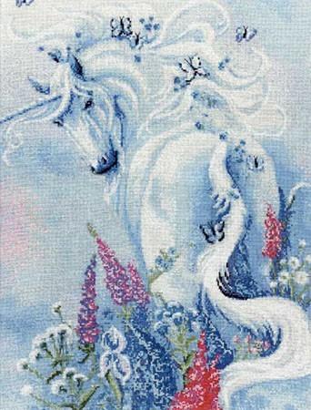 """Рхема вышивки Белый тигр"""""""