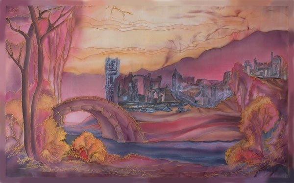Закат город
