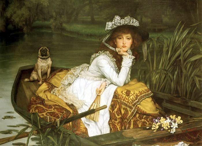 Девушка в лодке. 1870