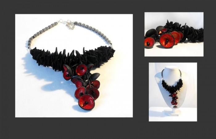 Необычные кожаные украшения от Leather Jewelry by Julia Goland.