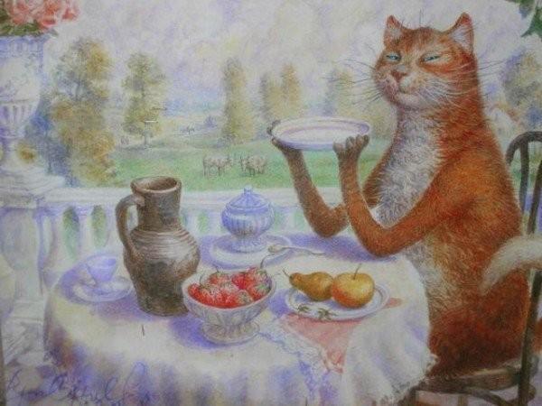 Картины Владимира Румянцева: Кошки.