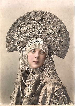 Elena Mrozovskaya, Princess Orlova-Davydova in Masquerade Costume for the Ba