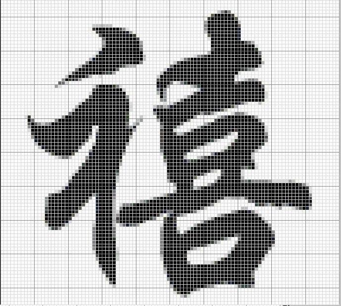 вышивальных иероглифов,