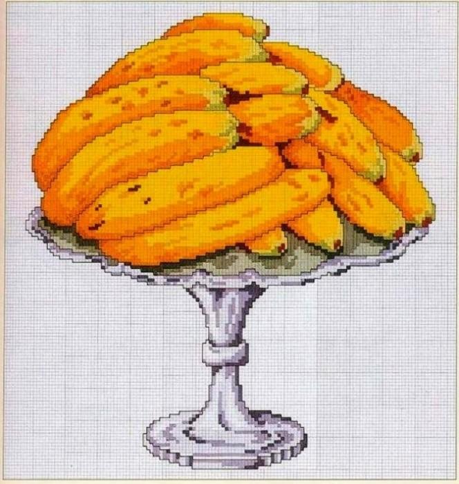 """Схема вышивки """"Бананы"""" (разные"""