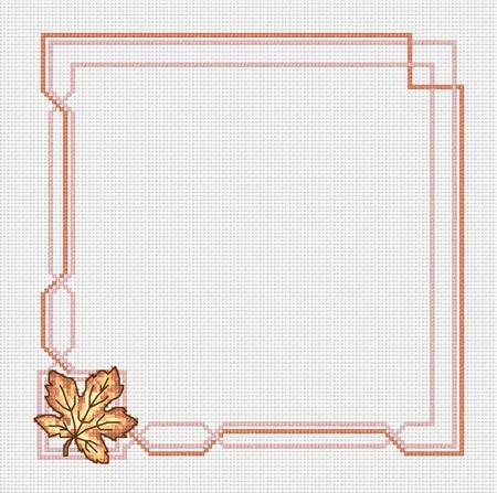 Схема салфетки крестик