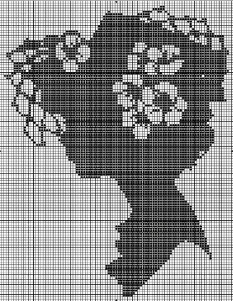 Портрет черно-белый вышивка