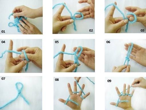 12. Вот еще вариант - плетение шнура на кисти руки.
