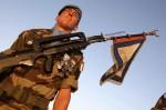 Французские солдаты, служащие в Организации Объединенных Наций Временных сил в Ливане. День взятия Бастилии в Париже, Франция, 14 юля 2010 года.