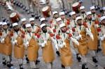 Пионеры из французского иностранного легиона. День взятия Бастилии в Париже, Франция, 14 юля 2010 года.