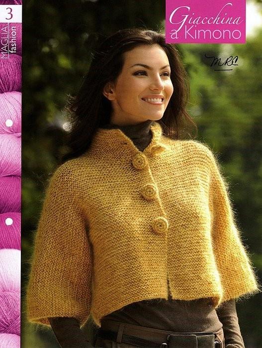 cardigan pattern: giacchina a kimono