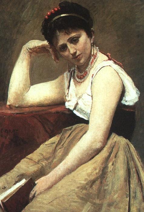 Прерванное чтение. 1870 Холст на доске, масло. Институт искусств, Чикаго. (