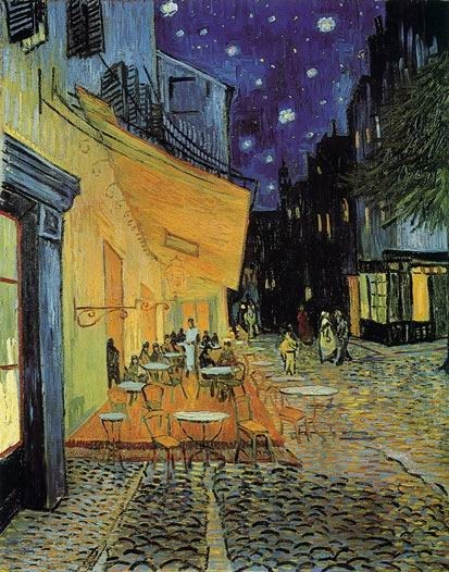 Caf? Terrace at Night 1888 by Vincent van Gogh