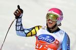 [+] Увеличить - Мужские горные лыжи, Кубок мира в Роза Хуторе близ Сочи, 11 февраля 2012 года.