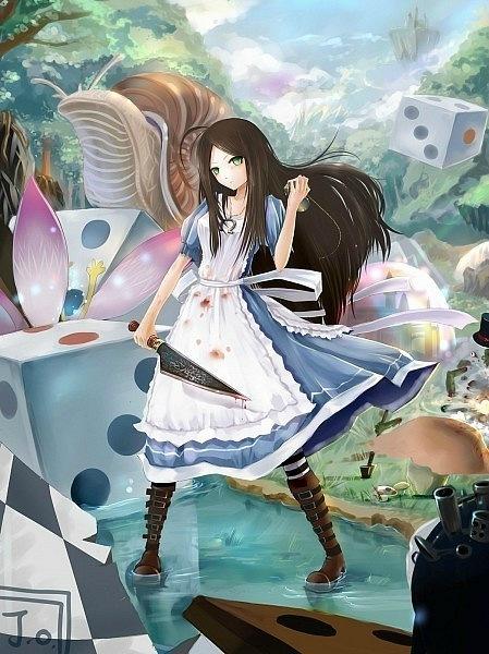 аниме девушки с длинными волосами: