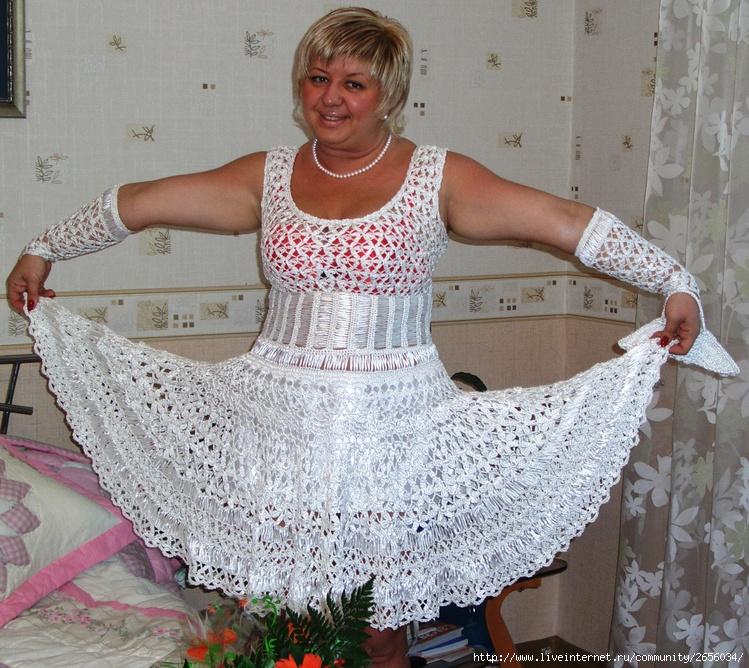 Вязанные свадебные платья